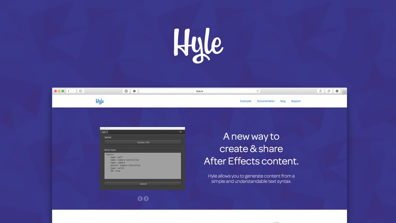 Image of project Hyle, a new way to create and share After Effects content